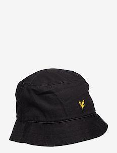 Cotton Twill Bucket Hat - bucket hats - true black