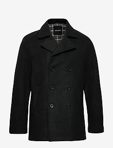 Peacoat - ullfrakker - true black