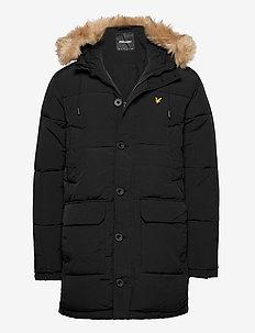 Heavyweight Longline Puffer Jacket - padded jackets - jet black