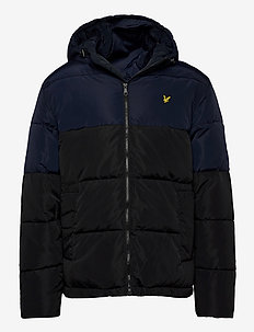 Colourblock Puffer Jacket - fôrede jakker - jet black/ dark navy