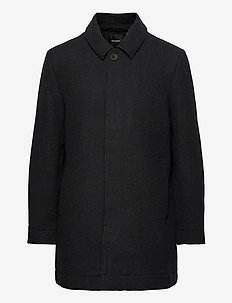 Wool Mac Coat - villakangastakit - charcoal marl