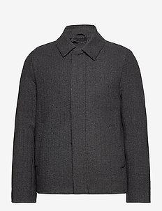 Herringbone Wool Jacket - wełniane kurtki - jet black/ mid grey marl