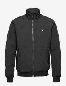 Fleece Lined Funnel Neck Jacket - tunna jackor - jet black