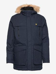 Winter Weight Micro Fleece Lined Parka - parka's - dark navy