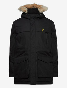 Winter Weight Micro Fleece Lined Parka - parka's - jet black