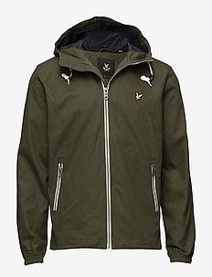Hooded twill jacket - DARK SAGE