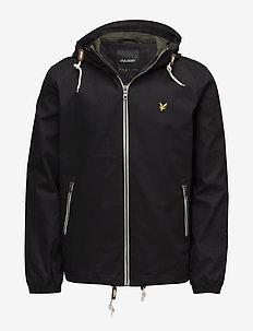 Hooded twill jacket - TRUE BLACK