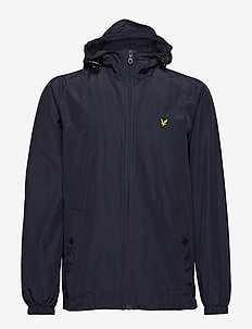 Zip Through Hooded Jacket - DARK NAVY
