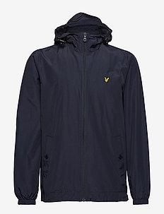Zip Through Hooded Jacket - windjacks - dark navy