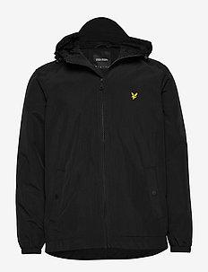 Zip Through Hooded Jacket - light jackets - jet black