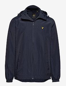 Zip Through Hooded Jacket - light jackets - navy jacket