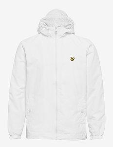 Zip Through Hooded Jacket - light jackets - white