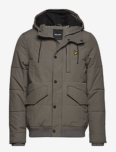 Wadded Hooded Bomber - URBAN GREY