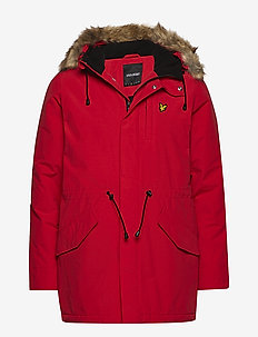 Winter Weight Microfleece Lined Parka - TOMATO RED