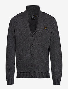 Shawl Neck Cardigan - CHARCOAL MARL