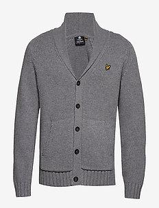 Shawl Neck Cardigan - cardigan - mid grey marl
