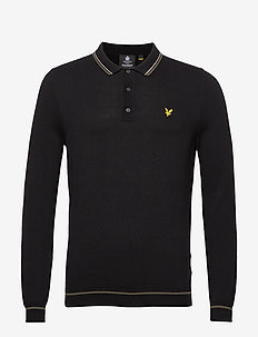 Knitted LS Polo - langärmelig - true black