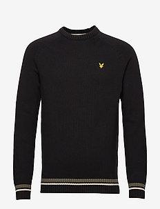 Multi Rib Knitted Jumper - basic knitwear - true black