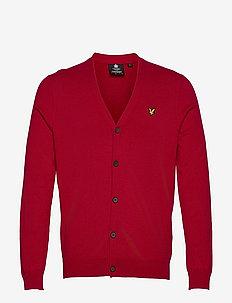 Cotton Merino Cardigan - tricots basiques - chilli pepper red