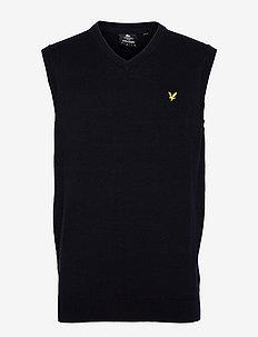 Cotton Merino Vest - vesten - dark navy