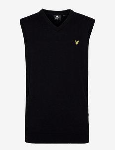 Cotton Merino Vest - vestes tricot - jet black