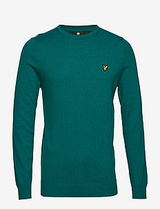 Cotton Merino Crew Jumper - ALPINE GREEN