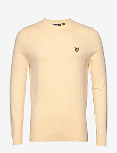 Cotton Merino Crew Jumper - basic strik - buttercream marl