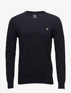 Cotton Merino V Neck Jumper - dark navy