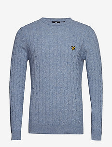 Cable Jumper - STONE BLUE MARL