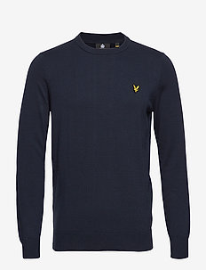 Cotton Crew Neck Jumper - DARK NAVY