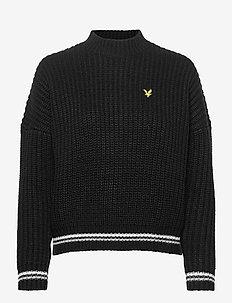 Tipped Jumper - swetry - jet black