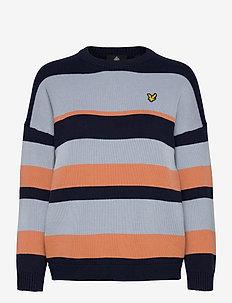 Stripe Jumper - trøjer - ink blue