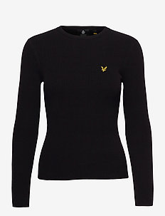 Ribbed Jumper - pulls - jet black