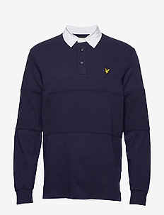 LS Rugby Polo Shirt - langermede - navy