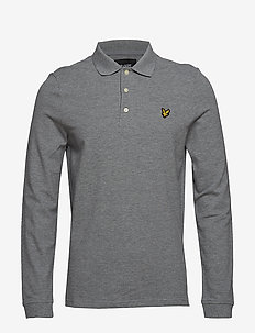 LS Polo Shirt - long-sleeved polos - mid grey marl