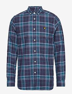 Check Flannel Shirt - NAVY