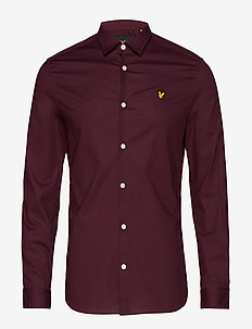 LS Slim Fit Poplin Shirt - basic overhemden - burgundy