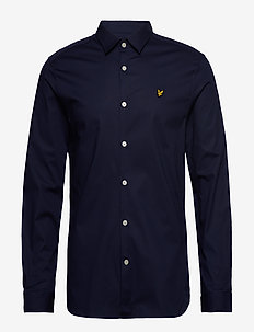 LS Slim Fit Poplin Shirt - NAVY
