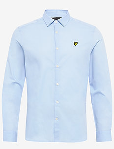 LS Slim Fit Poplin Shirt - peruspaitoja - pool blue
