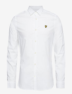 LS Slim Fit Poplin Shirt - basic-hemden - white