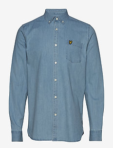Regular Fit Denim Shirt - WASHED INDIGO