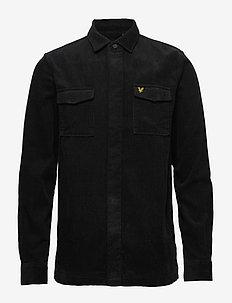 Cord Overshirt - basic shirts - true black