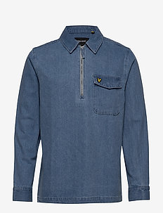 Indigo LS Shirt - basic skjortor - bleached indigo
