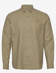 Cotton Linen Shirt - linen shirts - lichen green