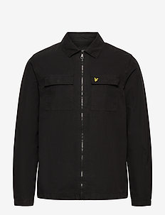 Cotton Overshirt - hauts - jet black