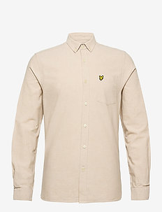 Regular Fit Light Weight Oxford Shirt - basic overhemden - sand storm/ white