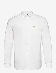 Regular Fit Light Weight Oxford Shirt - basic shirts - white
