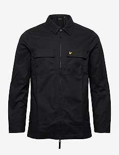 Cotton/Nylon Overshirt - overshirts - jet black