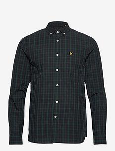 Check Poplin Shirt - casual hemden - dark navy/ jade green check