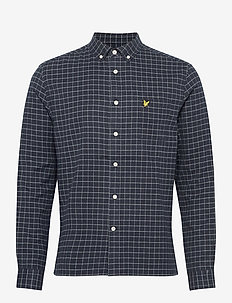 Grid Check Shirt - ternede skjorter - dark navy